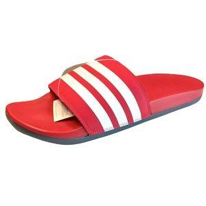 Adidas Adilette Comfort Mens Slide Sandals Red Shoes EG1852
